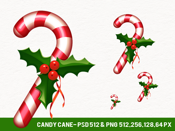 Free Candy Cane Icon