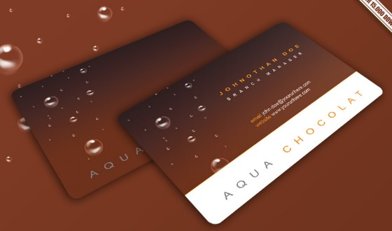 Free Chocolate Business Card PSD