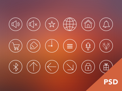 Icons Freebie PSD