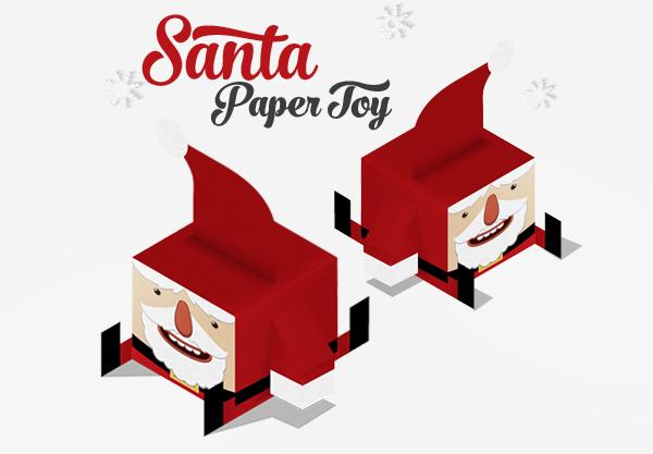 Santa´s Paper Toy
