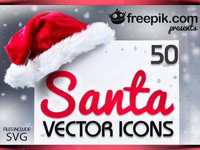 Santa-Vector-Icons