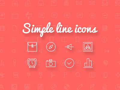 Simple Line Icons - 100+ free icon