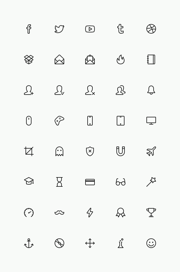 Simple Line Icons Set Vol 4