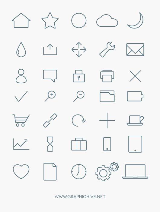 Stylized Minimalist Icon Collection