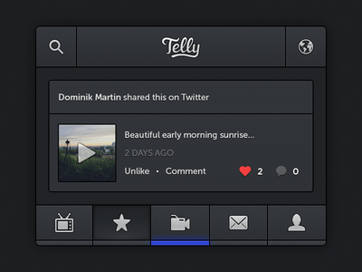 Telly iPhone App PSD