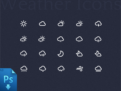 Weather Icon PSD