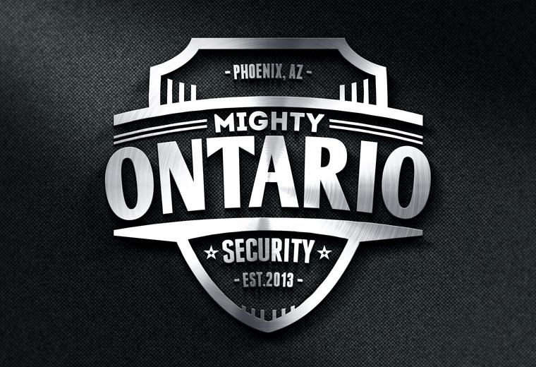 metal logo mockup template free download
