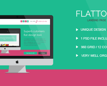 FlatTool - Free PSD Template