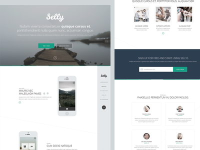 Free PSD - Clean Landing Page