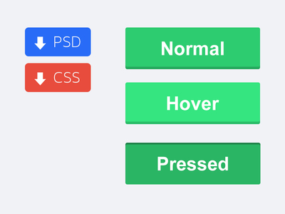 PSD & CSS Button State Workfiles