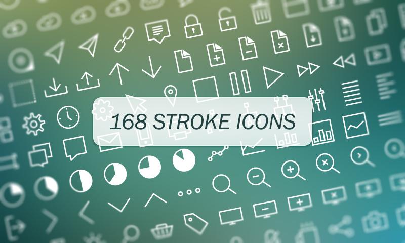 168 Vector Stroke Icons