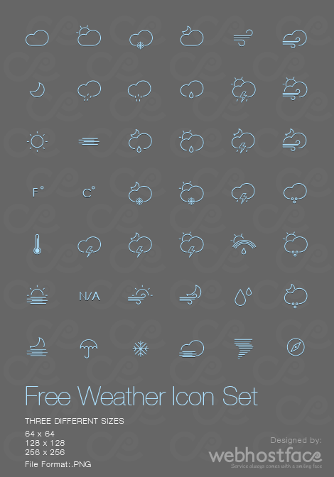 CLOUDY WITH A CHANCE OF FREE ICONS