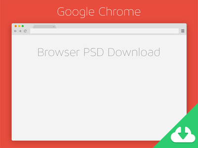 Chrome Browser PSD Download