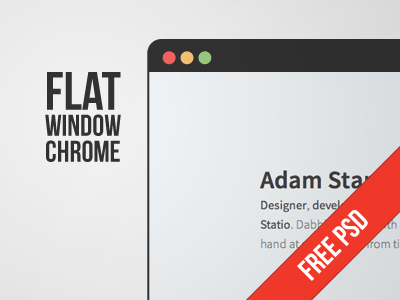 Flat Window Chrome PSD