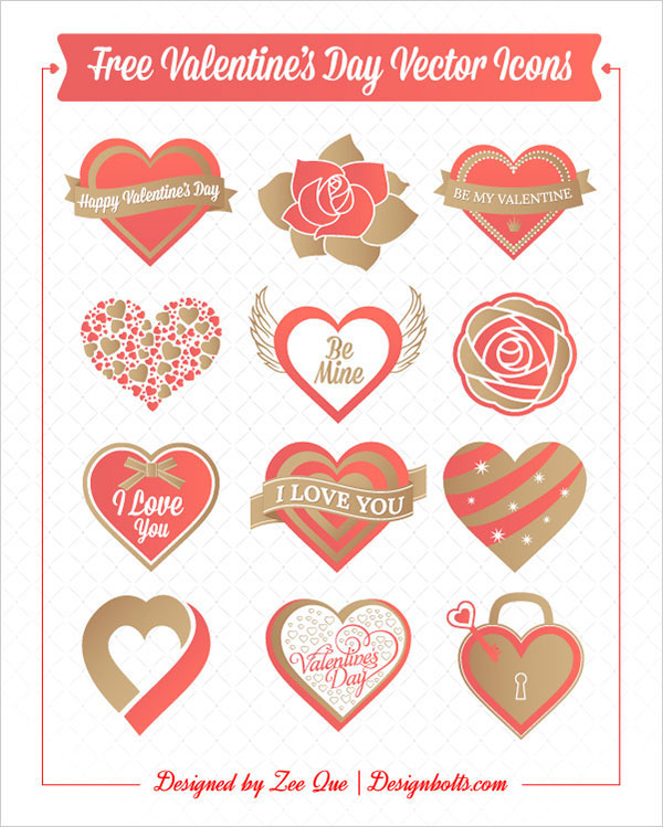 Free Valentines Day Vector Icons