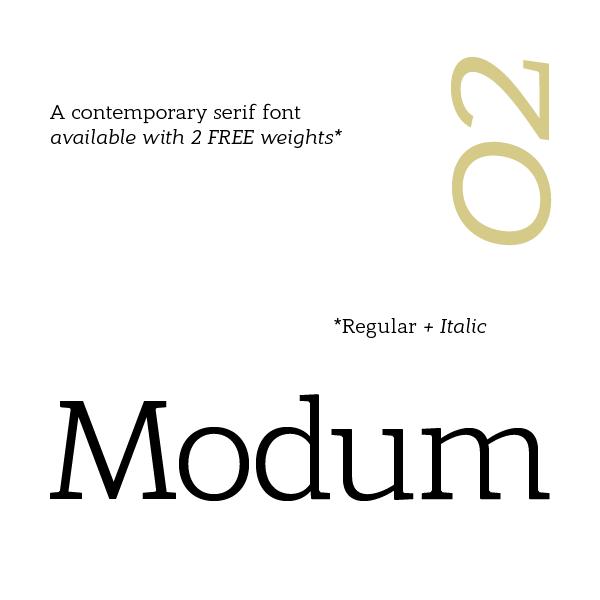 Modum Regular + Italic