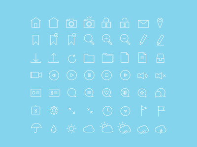 Thin Stroke 56 Icon Set