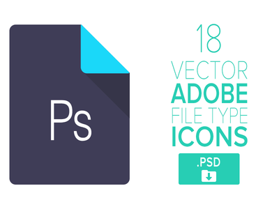 18 Adobe File Type Icons