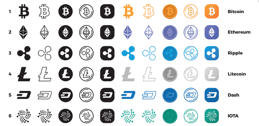 280 Free Cryptocurrency Icons