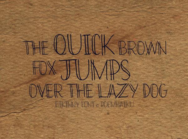 Bikinny Font