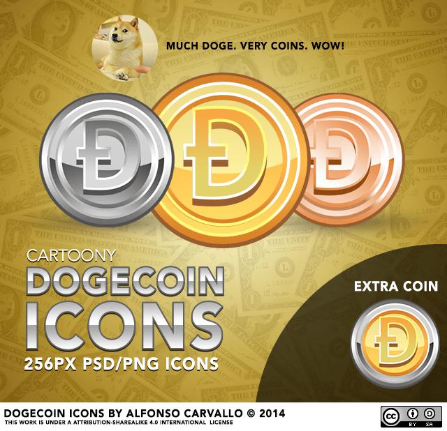Cartoony Dogecoin Icons