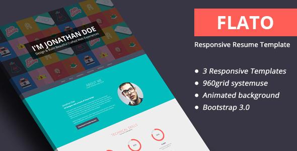 Flato - Responsive Online CV y plantillas de currículum