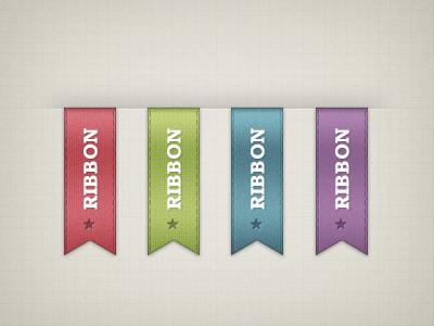 Free Ribbons PSD