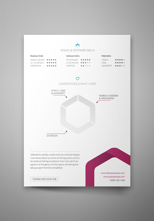 Free Vita Resume (InDesign Template)