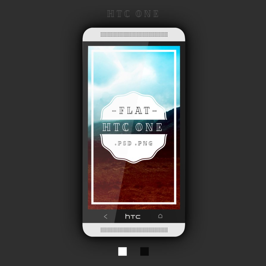 Htc One Flat PSD