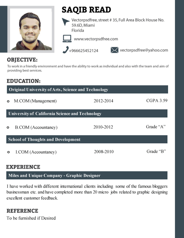 updated resume format 2014 free download resume format word doc