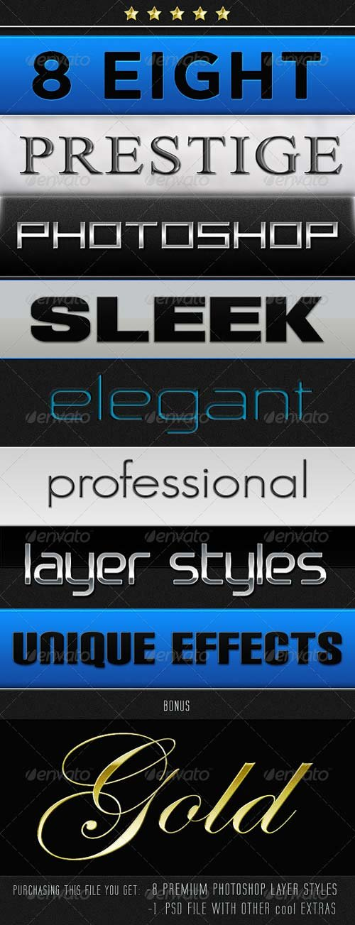 Smooth Sleek and Shiny Layer Styles