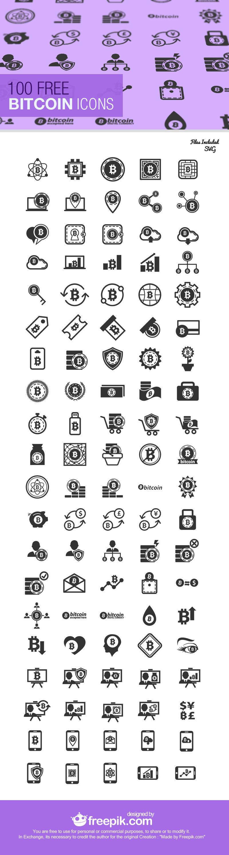 The Bitcoin Icon Set
