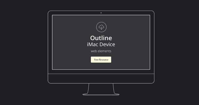 Vector Apple Outline Device PSD