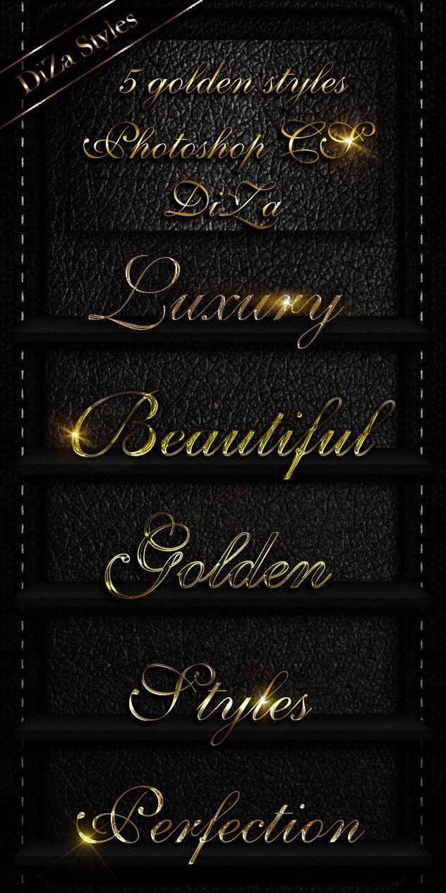 5 golden Photoshop styles