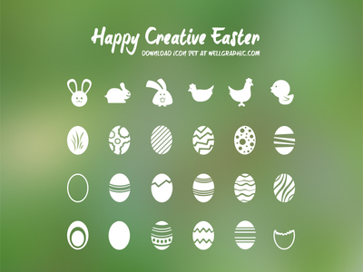 Free Easter Vector Icon Set