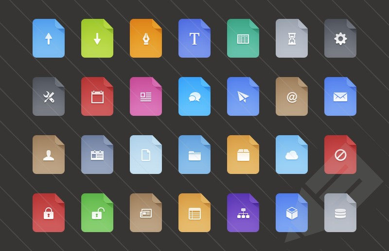 Free Flat Filetype Icons