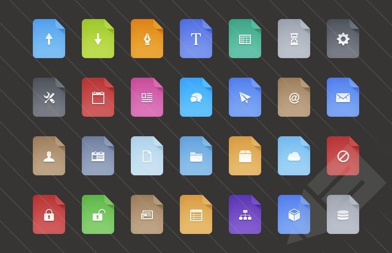 Free Flat Filetype Icons