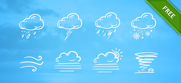 Free PSD Weather Icon Set