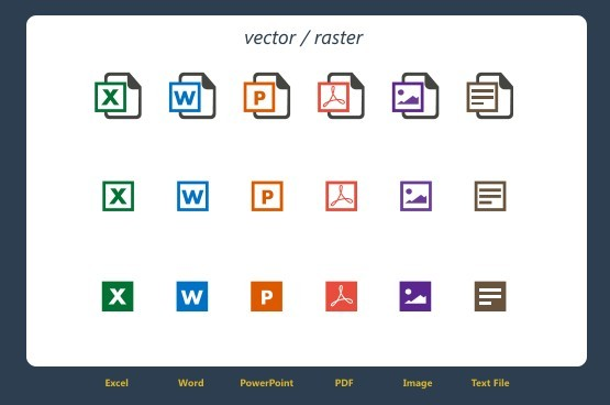 Free document icon set