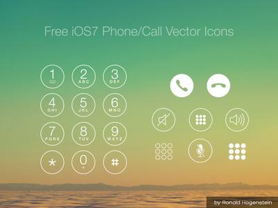 Free iOS7 Phone Call Vector Icons