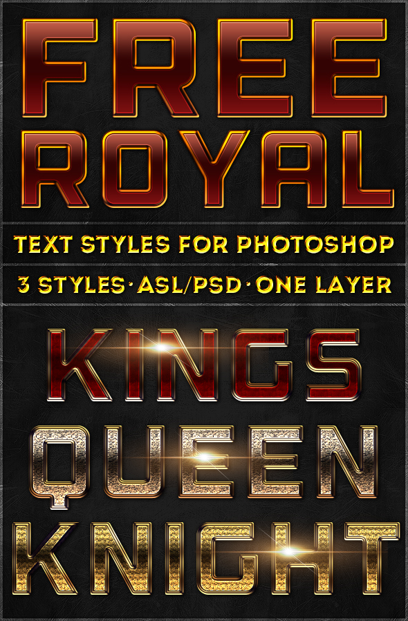 Royal Text Styles