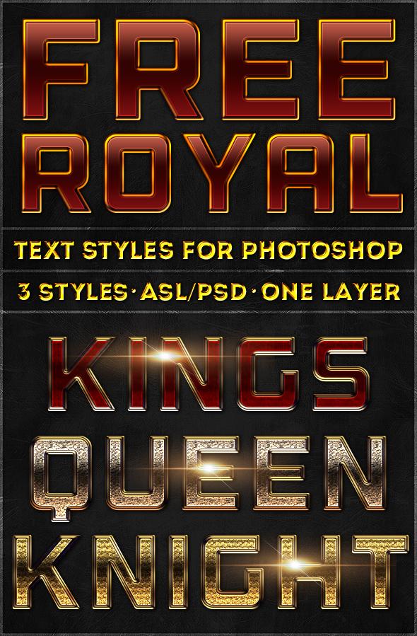 Royal Text Styles