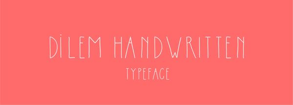 Dilem Handwritten Display Typeface