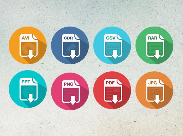 Flat File Type Icons Vol. 1