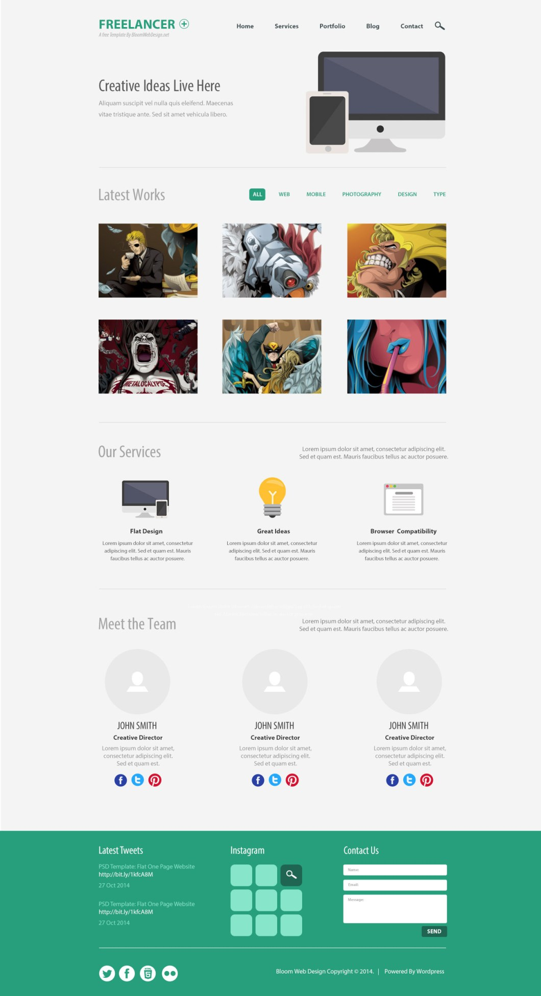 Minimalist One Page Website Template
