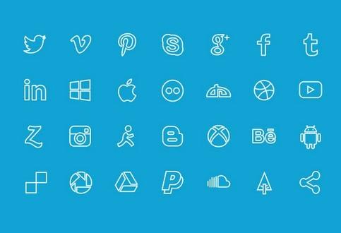 Social icons set