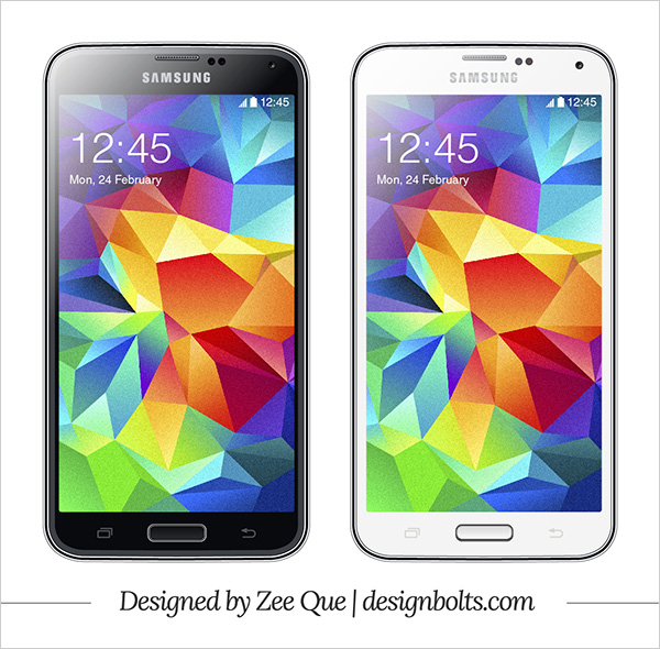 Vector Samsung Galaxy S5 Mockup
