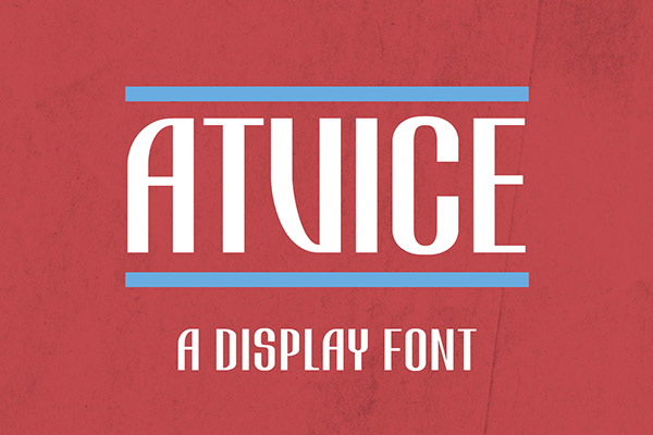 ATViCE Display Font