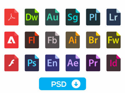 Adobe File Type Icons