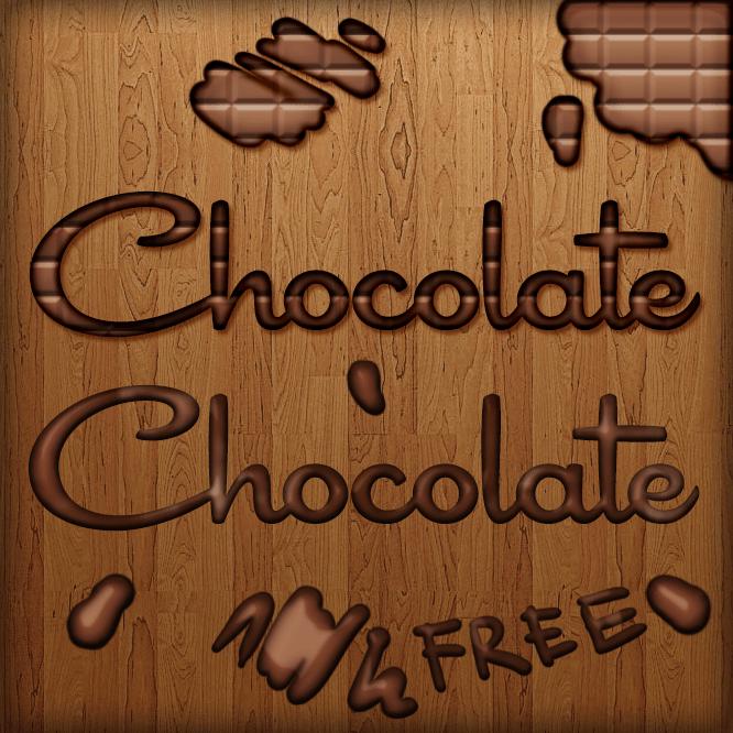 Free chocolate psd style